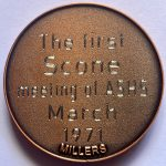 50 years Medallion 1st Meeting-back engraving